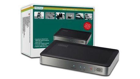 HDMI video rozbočovač jeden vstup, dva výstupy. DIGITUS HDMI elektronický 1 => 2