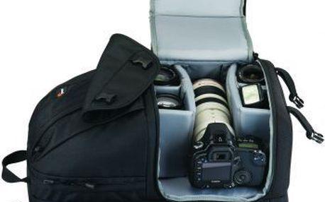 """Tříkomorový fotobatoh LowePro Fastpack 350 černá zadní komora na notebook (17""""Wide)"""