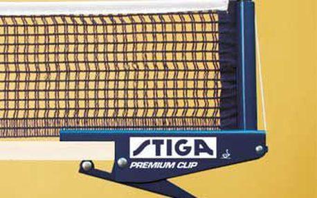 Stiga Premium Clip. Kvalitní masivní síťka vyrobená ze železné konstrukce a kvalitní bavlněné síťoviny.