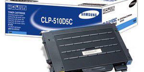 Tonerová náplň Samsung CLP510D5C, modrá