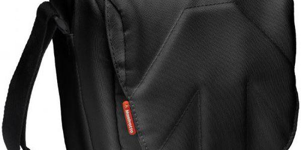 Brašna přes rameno Manfrotto STILE SH-4BB SOLO černá poskytuje rychlý pohodlný a stylový přístup k fotoaparátu.