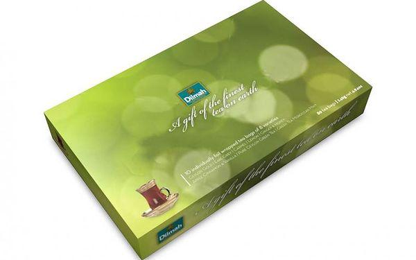 Dárkové balení čajů ILLUMINATION GREEN. 80 samostatně balených sáčků s 8 různými druhy čaje