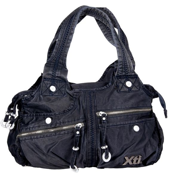 Dámska modrá denimová kabelka Xti s vreckami