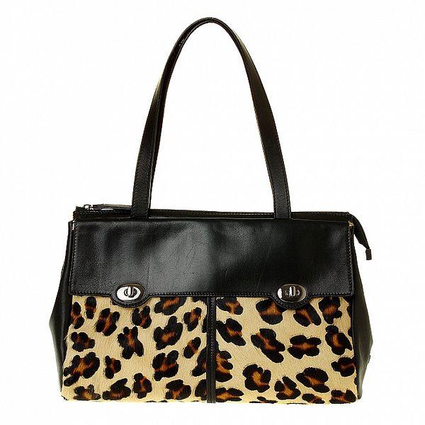 Dámská leopardí kabelka Puntotres s umělou kožešinou