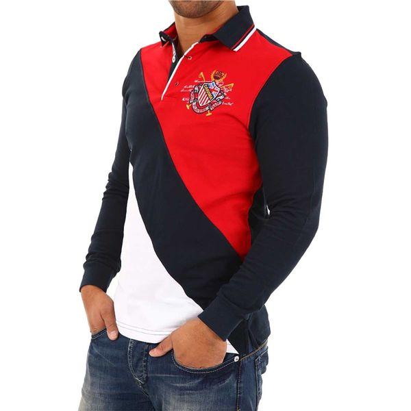 Pánská polo košile Carisma modro-červeno-bílá