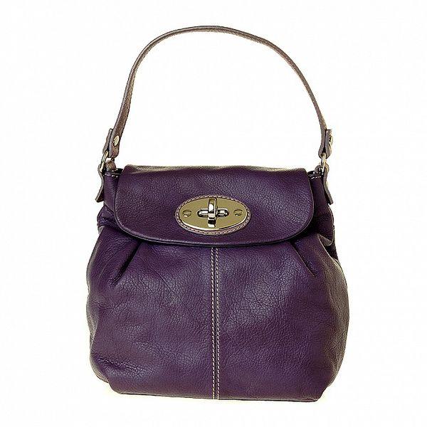 Dámská malá fialová kožená kabelka Puntotres