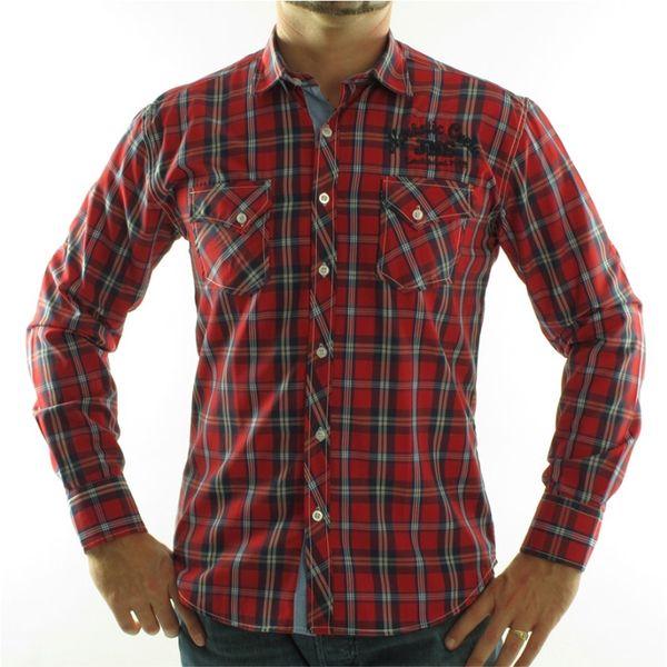 Pánská košile Narkotic červená