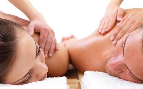 60 minutová masáž dvojic dle výběru.