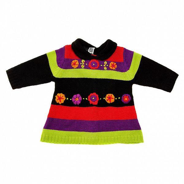 Detské farebné pletené šatičky Tuc Tuc