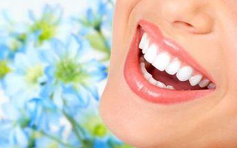 Kosmetické bělení zubů bez peroxidu za 399 Kč!