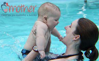 Len 76 € za kurz plávania pre bábätká s mamičkami s relaxom a saunou v prestížnom materskom centre. Zdravý vývoj detí už od útleho veku so zľavou 54%.