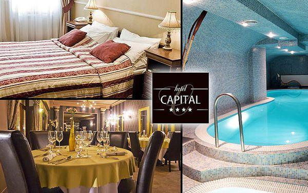Spravte si pekný večer v luxusnom hoteli v centre Nitry. Vstup do welness, večera a raňajky pre dvoch v Hoteli Capital**** len za 55€.