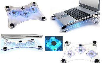 Najpredávanejšia chladiaca podložka s modrým podsvietením pod váš notebook! Originálny imidž, 3 ventilátory, zvyšuje výkon, chráni a zabraňuje prehriatiu!
