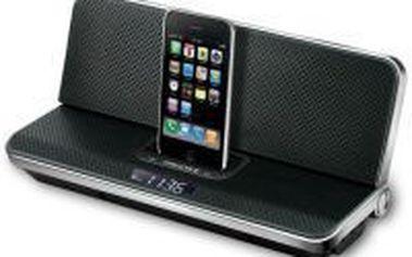 Hodiny s budíkem a možností přehrávání z Apple iPod/iPhone Scott iPX 12