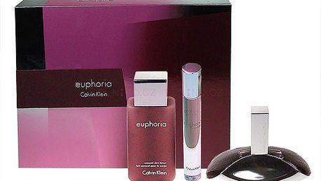 Parfémovaná voda Calvin Klein Euphoria Edp 50ml + 100ml tělové mléko + 10ml Edt Roll-on