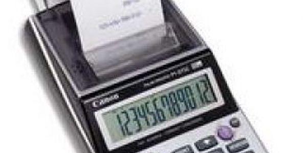Kalkulačka Canon P 1-DTSC, s tiskem. Funkce pro výpočet daně a obchodní účely