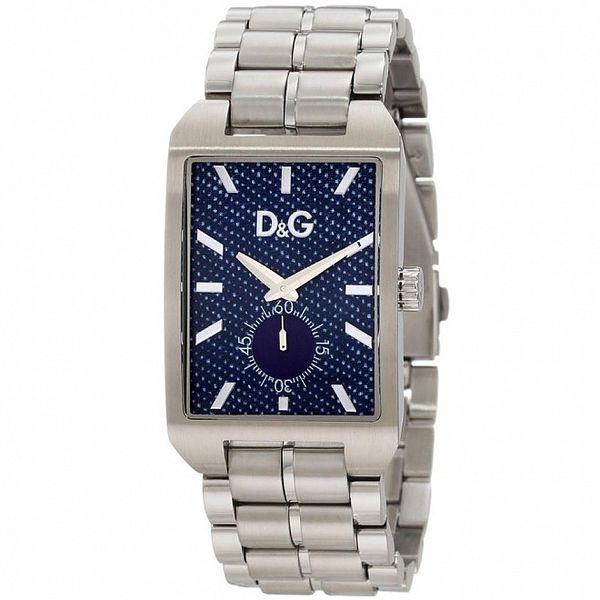 Pánské ocelové hodinky Dolce & Gabbana s modrým ciferníkem