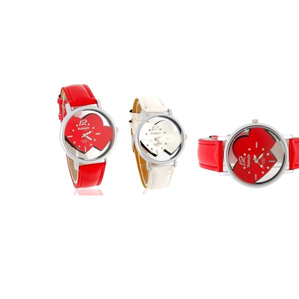Luxusní dámské hodinky WOMANG s koženým řemínkem ve dvou barevných provedeních s jedinečným designem!