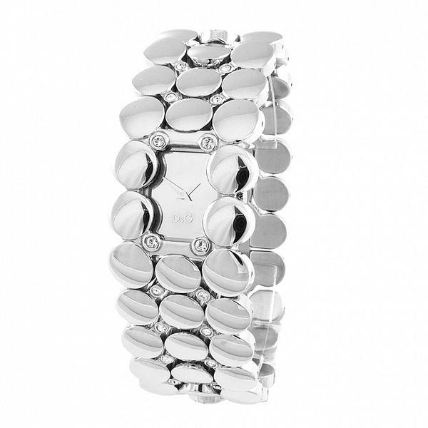 Dámské ocelové hodinky Dolce & Gabbana s kamínky