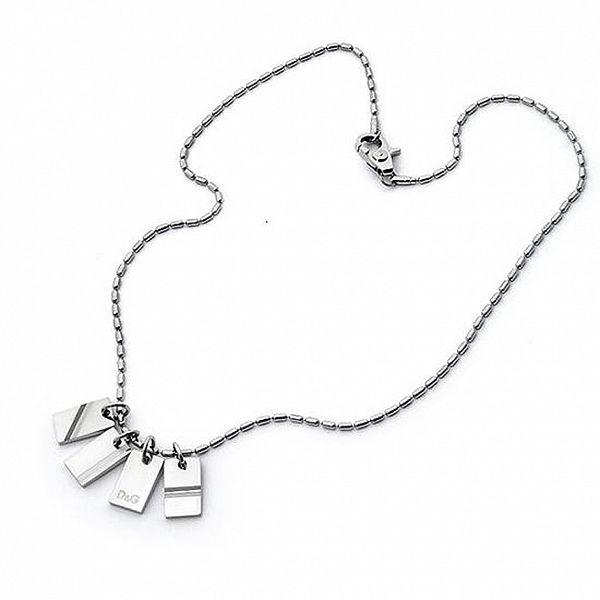 Pánský stříbrný řetízek Dolce & Gabbana s přívěsky