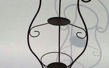 Stylový kovový stojan na mycí set - černý. Ideální v kombinaci s porcelánovým setem Rose