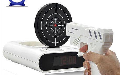 Unikátní budík s terčem a laserovou pistolí a poštovné ZDARMA! - 67