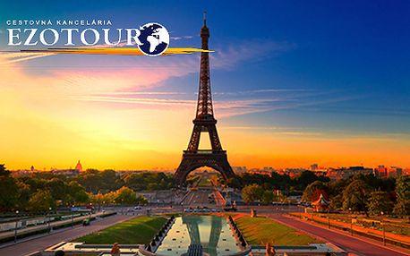 Paríž je jedno z najväčších a najromantickejších európskych miest a podmaňuje si všetky zmysly. Presvedčte sa o tom osobne a navštívte toto kúzelné miesto na 5 dní len za 149 €.