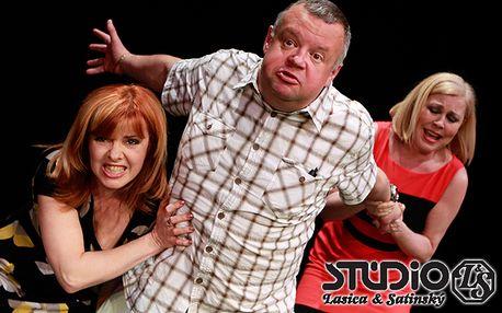 Vstupenka na pondeľňajšie predstavenie bláznivej komédie Opačné pohlavie v Štúdiu Lasica&Satinský len za 7 €.