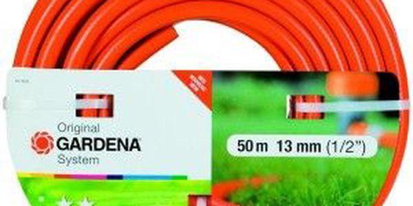Zahradní hadice z PVC s kvalitní tkaninou. Gardena Standard 1/2 50 m