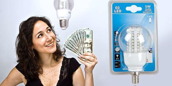 60 LED žárovky s extra dlouhou životností a úsporou o výkonu 5W, patice E14 a E27.