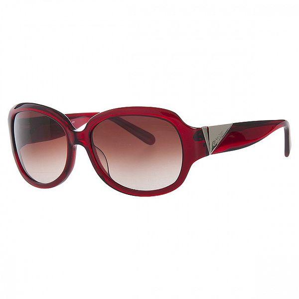Dámske sýto červené slnečné okuliare Calvin Klein