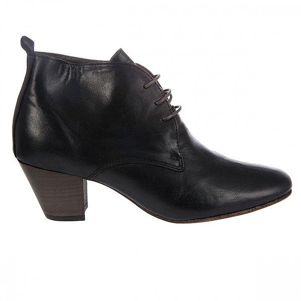 Dámské černé kotníkové boty Hudson