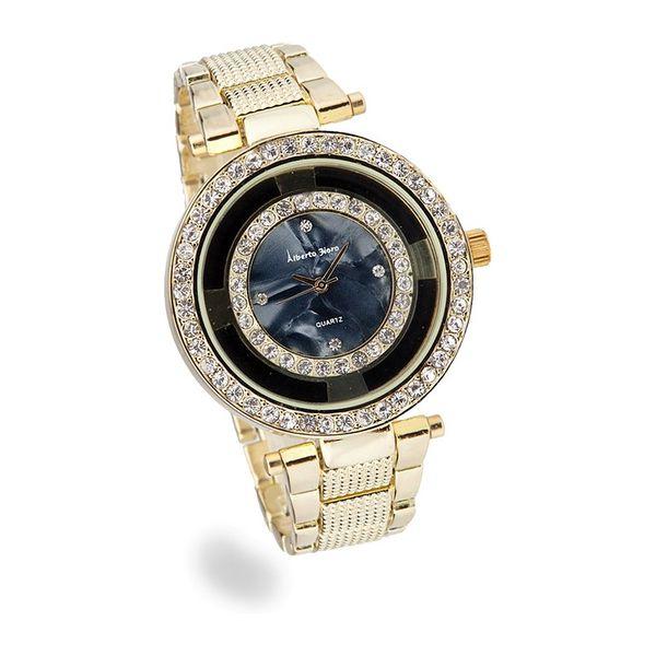 Dámské hodinky Sinobi zlaté dekorativní černý ciferník