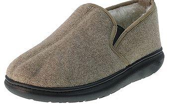 Zateplené béžové papuče