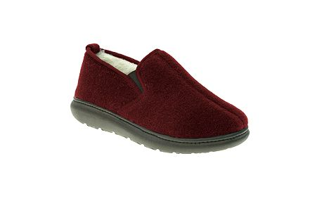 Zateplené červené papuče