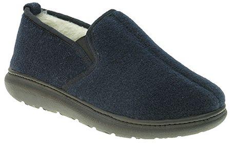 Zateplené modré papuče