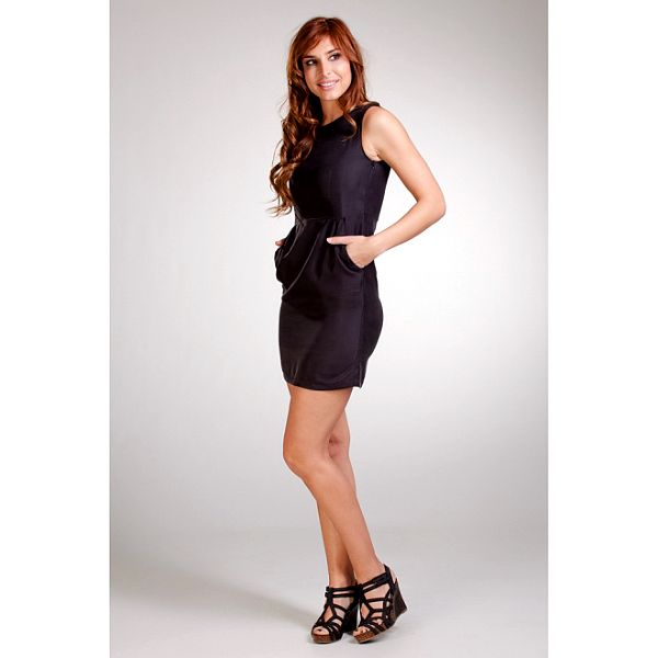 Dámské černé pouzdrové šaty Stix