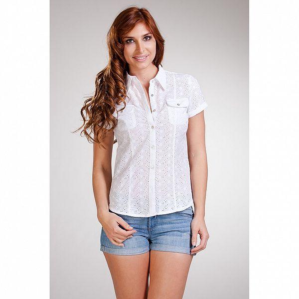 Dámska biela košeľa s krátkymi rukávmi Stix