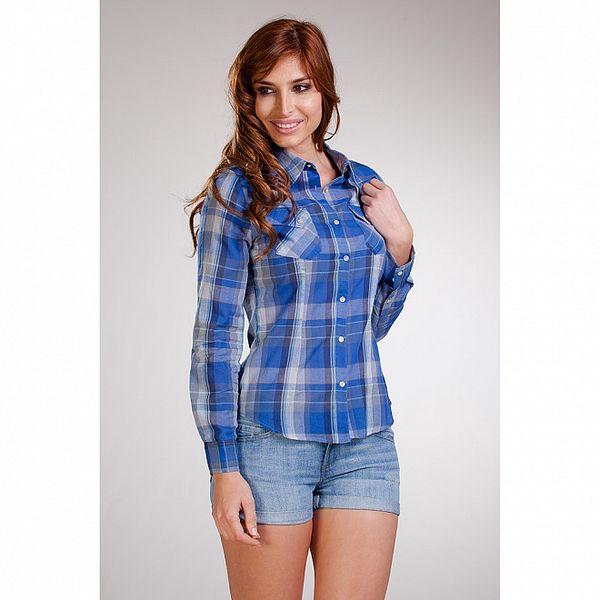 Dámská modrá károvaná košile Stix