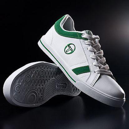 Bílo-zelené pánské tenisky Sergio Tacchini Sambin