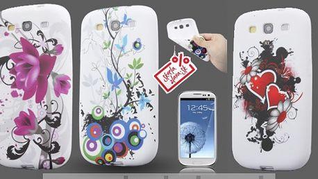 Obal z odolného a pružného TPU materiálu určený pre Samsung Galaxy SIII / i9300 v štýlovom Flower dizajne v deviatich vzoroch za 4,30 € aj s poštovným.
