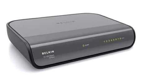 BELKIN Ethernet Switch 10/100Mbps 8-port