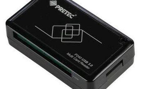 Velmi rychlá USB 3.0 čtečka paměťových karet PRETEC PCP240