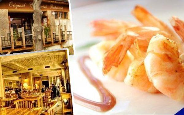 Limitovaná nabídka menu pro 2 osoby! 60 kusů TYGŘÍCH KREVET ke každé porci zdarma aperitiv Martini Bianco 0,02l za úžasnou cenu 498 Kč!