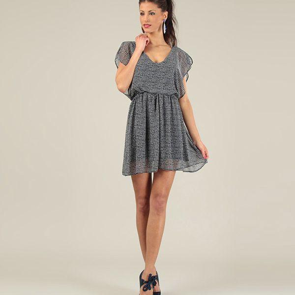 Dámské tmavě modré krátké volné šaty Lili Lovely