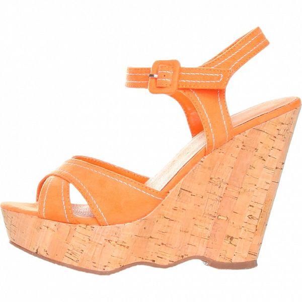 Dámske oranžové sandálky na platforme Ana Lublin