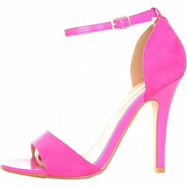Růžové sandálky s jehlovým podpatkem Ana Lublin