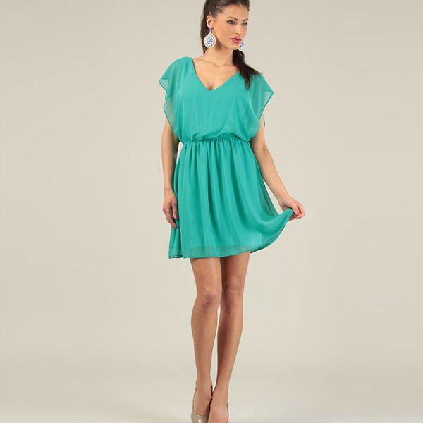 Dámske vzdušné zelené šaty Lili Lovely