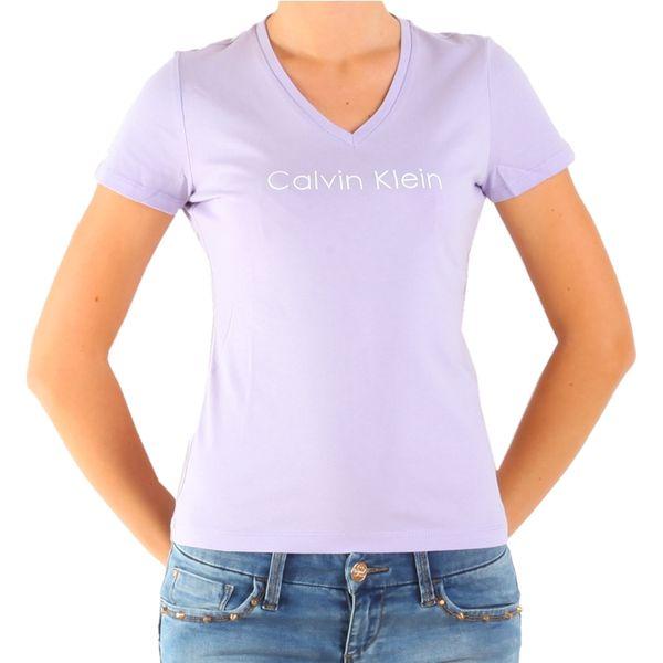 Dámské triko Calvin Klein lila s logem