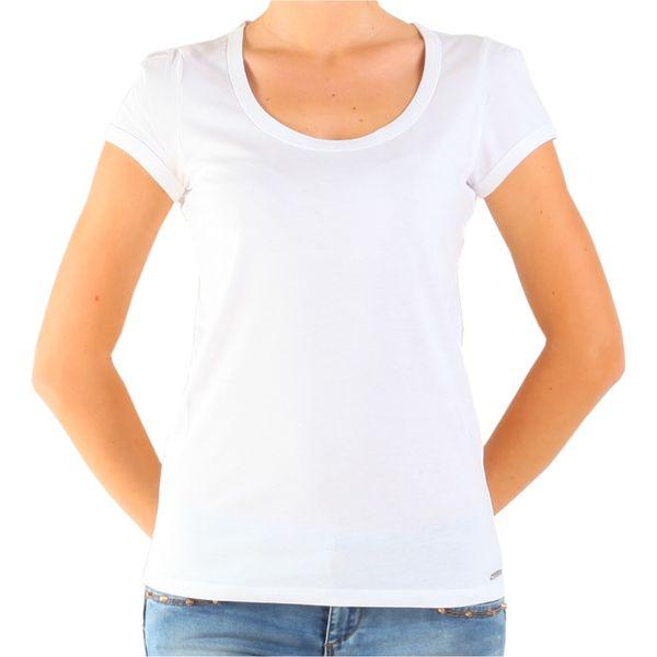 Dámské triko Calvin Klein bílé kulatý výstřih